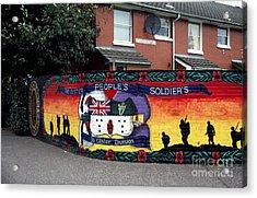 Freedom Corner Mural Belfast Acrylic Print by Thomas R Fletcher