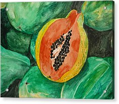 Fresh Papaya For Sale Acrylic Print by Estephy Sabin Figueroa