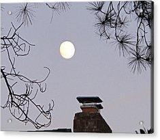 Full Moon Acrylic Print by Valia Bradshaw