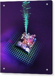 Future Computing, Conceptual Image Acrylic Print by Richard Kail