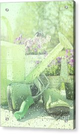Garden Tools For Spring Planting  Acrylic Print by Sandra Cunningham