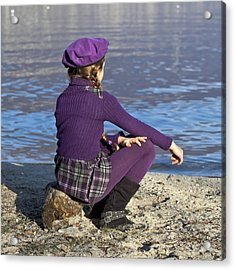 Girl At A Lake Acrylic Print by Joana Kruse