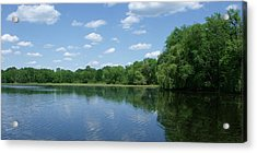 Harris Pond Acrylic Print by Anna Villarreal Garbis