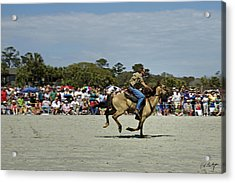 Has A Big Lead Acrylic Print by Phill Doherty