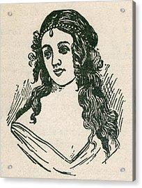 Helen Jewett 1813-1836 Was An New York Acrylic Print by Everett