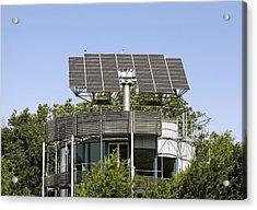 Heliotrope Solar House Acrylic Print by Martin Bond