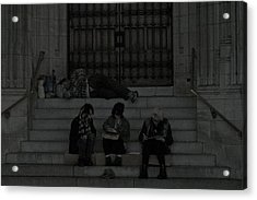 Homeless In The Big Apple Acrylic Print by Snow  White