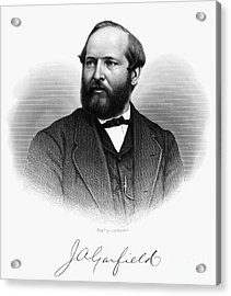 James A. Garfield (1831-1881) Acrylic Print by Granger