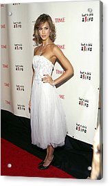 Jessica Alba At Arrivals For The Black Acrylic Print by Everett