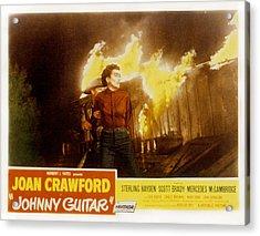 Johnny Guitar, Joan Crawford, Sterling Acrylic Print by Everett