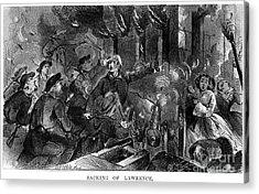 Kansas: Lawrence, 1856 Acrylic Print by Granger