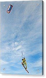 Kite Board Acrylic Print by Elijah Weber