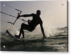 Kitesurfing Board Acrylic Print by Hagai Nativ