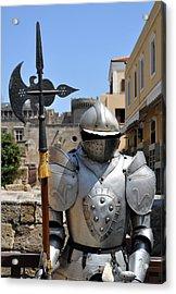 Knight Armor. Acrylic Print by Fernando Barozza
