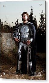 Knight In Shining Armour Acrylic Print by Yedidya yos mizrachi