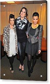 Kourtney Kardashian, Khloe Kardashian Acrylic Print by Everett