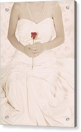 Lady With A Rose Acrylic Print by Joana Kruse