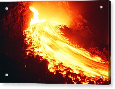 Lava Flow And Vent Acrylic Print by Dr Juerg Alean