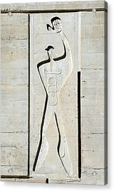 Le Corbusier Design Acrylic Print by Chris Hellier