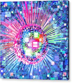 Lighting Effects And Graphic Design Acrylic Print by Setsiri Silapasuwanchai