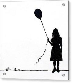 Little Girls On Little Canvas  Acrylic Print by Cindy D Chinn