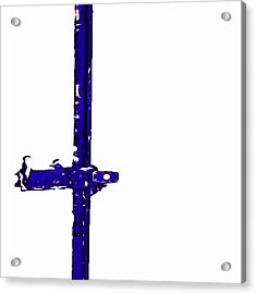 Long Lock In Blue Acrylic Print by J erik Leiff