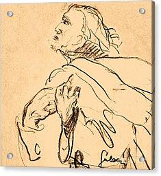 Man Portrait Acrylic Print by Odon Czintos