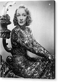 Marlene Dietrich Acrylic Print by Everett