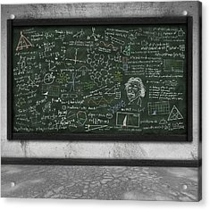 Maths Formula On Chalkboard Acrylic Print by Setsiri Silapasuwanchai