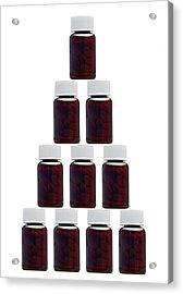 Medicine Bottles, Artwork Acrylic Print by Victor De Schwanberg