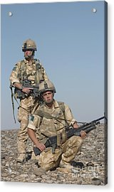 Members Of The British Army On Foot Acrylic Print by Andrew Chittock