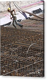 Men At Work Acrylic Print by Andrew  Michael