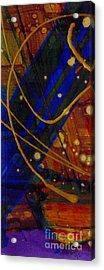 Mickey's Triptych - Cosmos I Acrylic Print by Angela L Walker