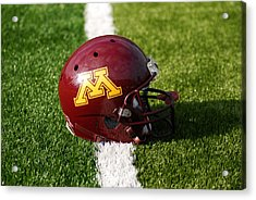 Minnesota Football Helmet Acrylic Print by Bill Krogmeier