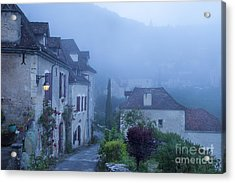 Misty Dawn In Saint Cirq Lapopie Acrylic Print by Brian Jannsen