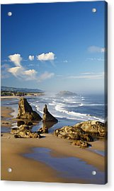 Morning Light Adds Beauty To Rock Acrylic Print by Craig Tuttle