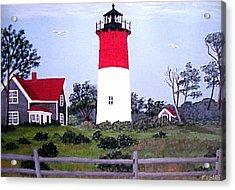 Nauset Lighthouse Painting Acrylic Print by Frederic Kohli
