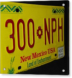 New Mexico Tag Acrylic Print by Rob Hans
