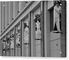 New York Mets Of Old In Black And White Acrylic Print by Rob Hans