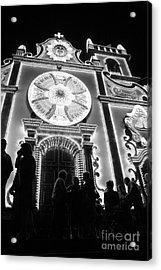 Nighttime Religious Celebrations Acrylic Print by Gaspar Avila