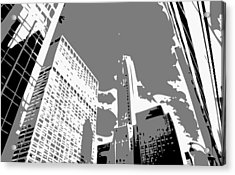 Nyc Looking Up Bw3 Acrylic Print by Scott Kelley