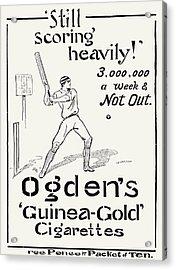 Ogdens Cigarettes, 1897 Acrylic Print by Granger
