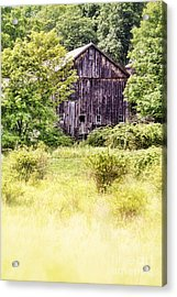 Old Barn Acrylic Print by HD Connelly