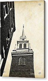 Old North Church In Boston Acrylic Print by Elena Elisseeva