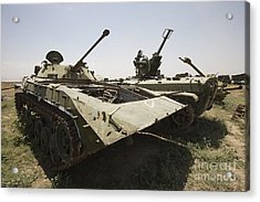 Old Russian Bmp-1 Infantry Fighting Acrylic Print by Terry Moore