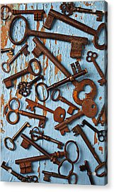 Old Skeleton Keys Acrylic Print by Garry Gay