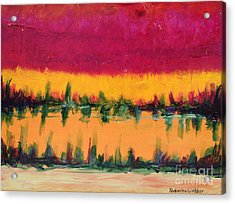 On Golden Pond Acrylic Print by Kimberlee Weisker