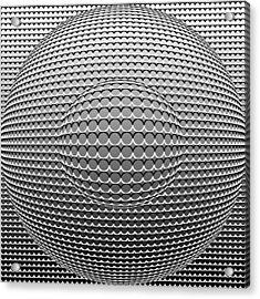 Optical Illusion Circle In Circle Acrylic Print by Sumit Mehndiratta