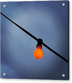 Orange Light Bulb Acrylic Print by Matthias Hauser