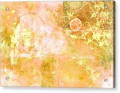 Orange Peel Acrylic Print by Christopher Gaston